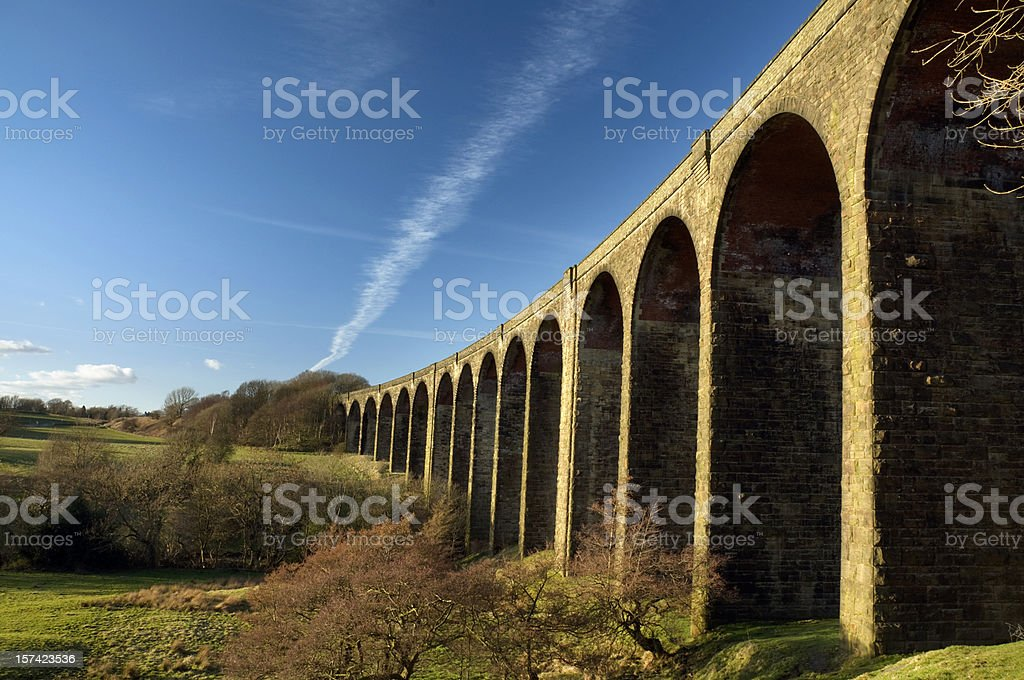 Hewenden Viaduct royalty-free stock photo