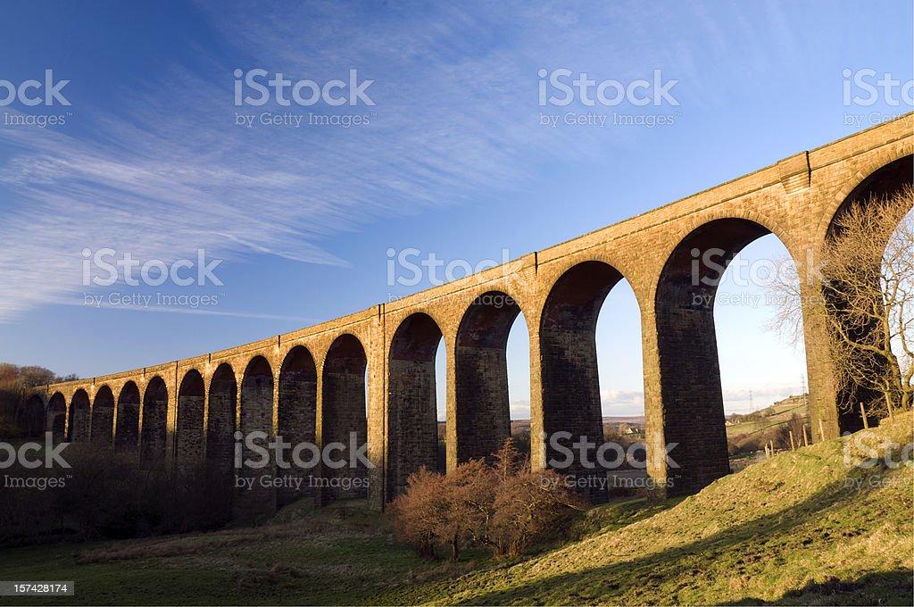 Hewenden Viaduct stock photo