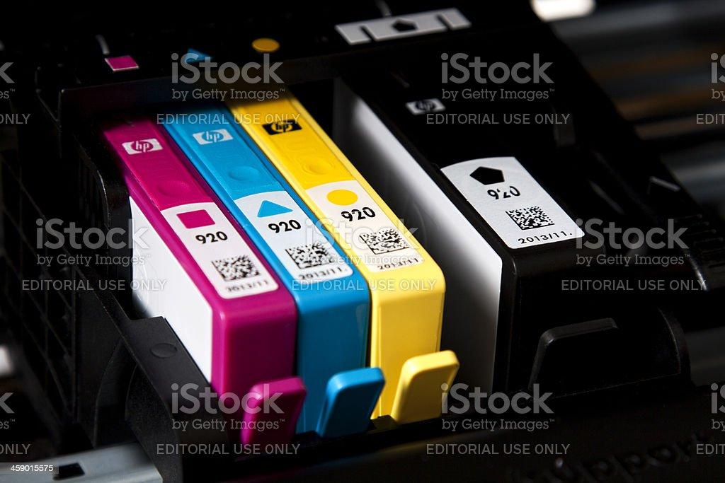 Hewlett Packard Ink Cartridges stock photo