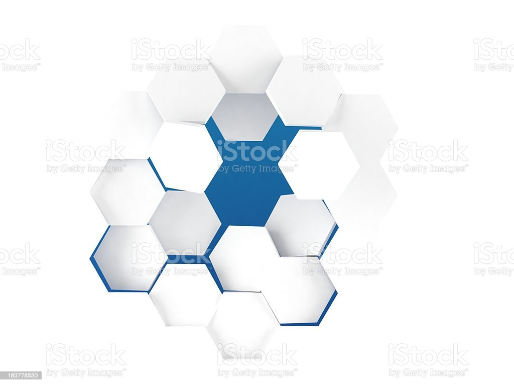 Hex background stock photo