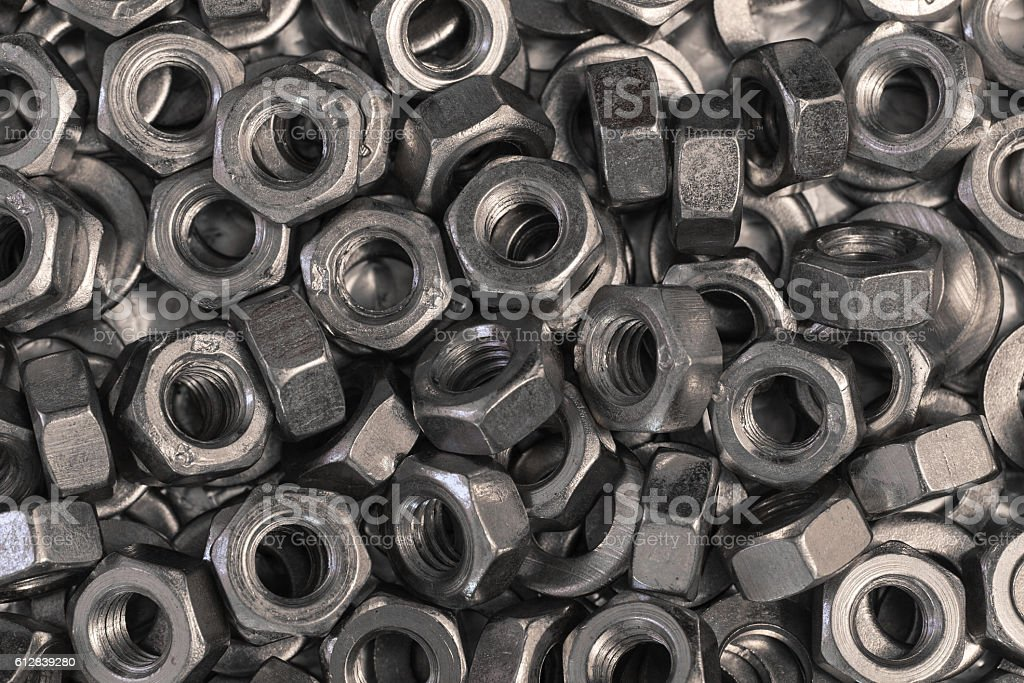 hex metal nut stock photo