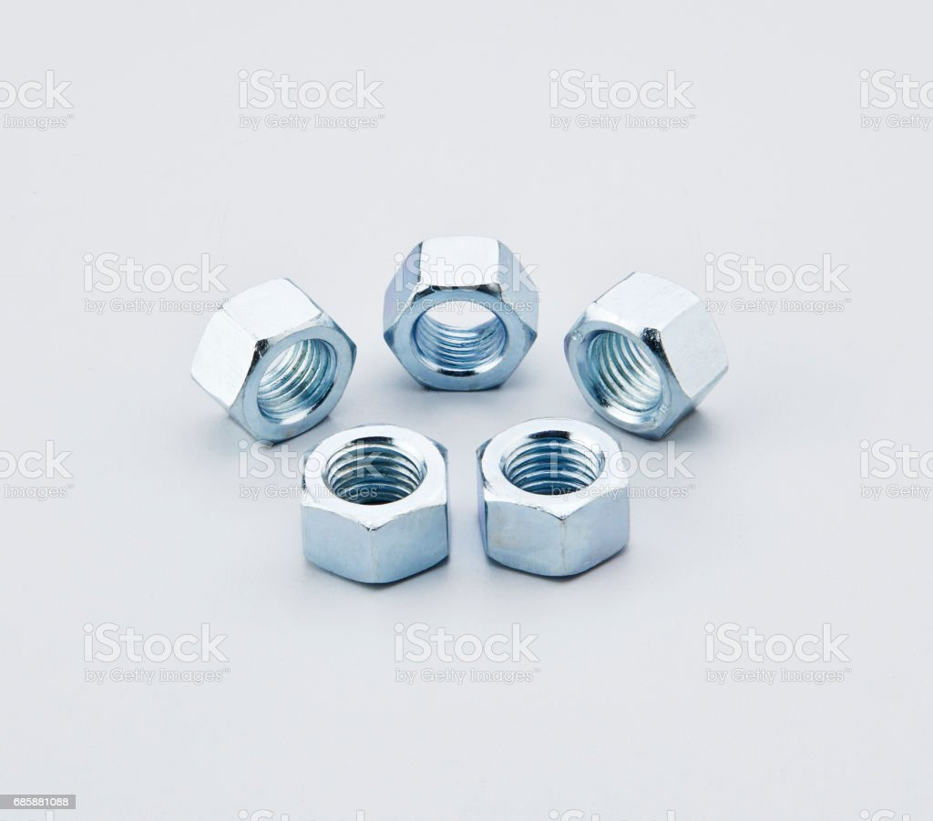 hex nuts stock photo
