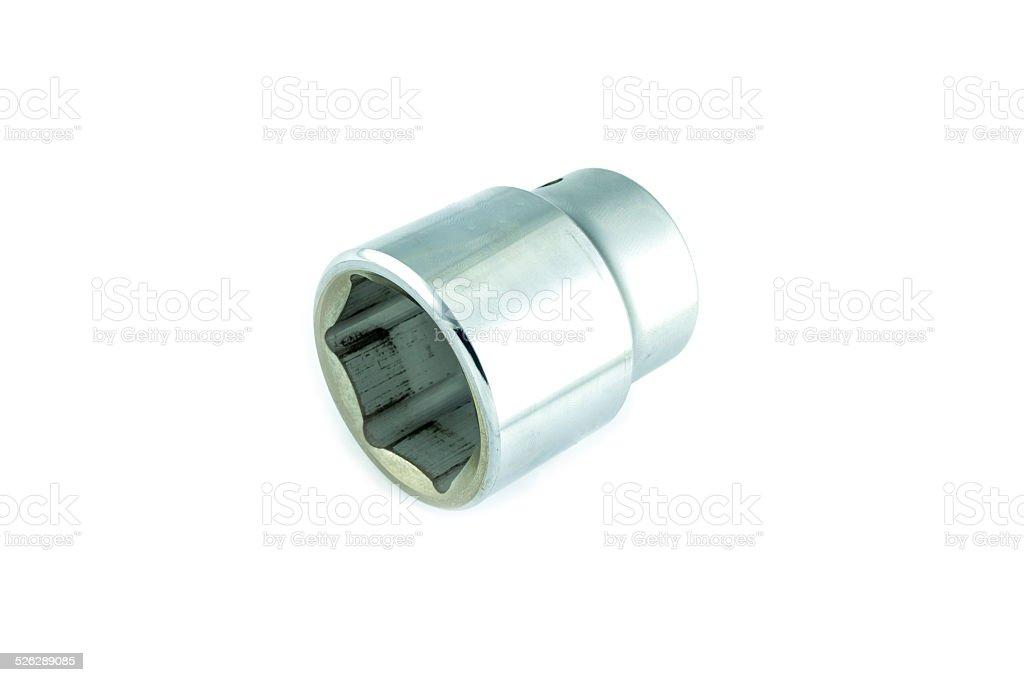 hex socket of spanner stock photo