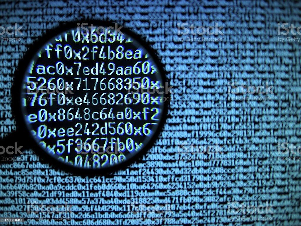 Hexadecimal code royalty-free stock photo