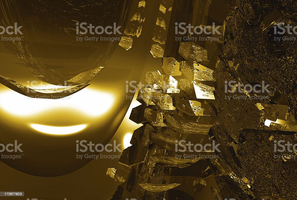 Hexadome 02 Gold stock photo