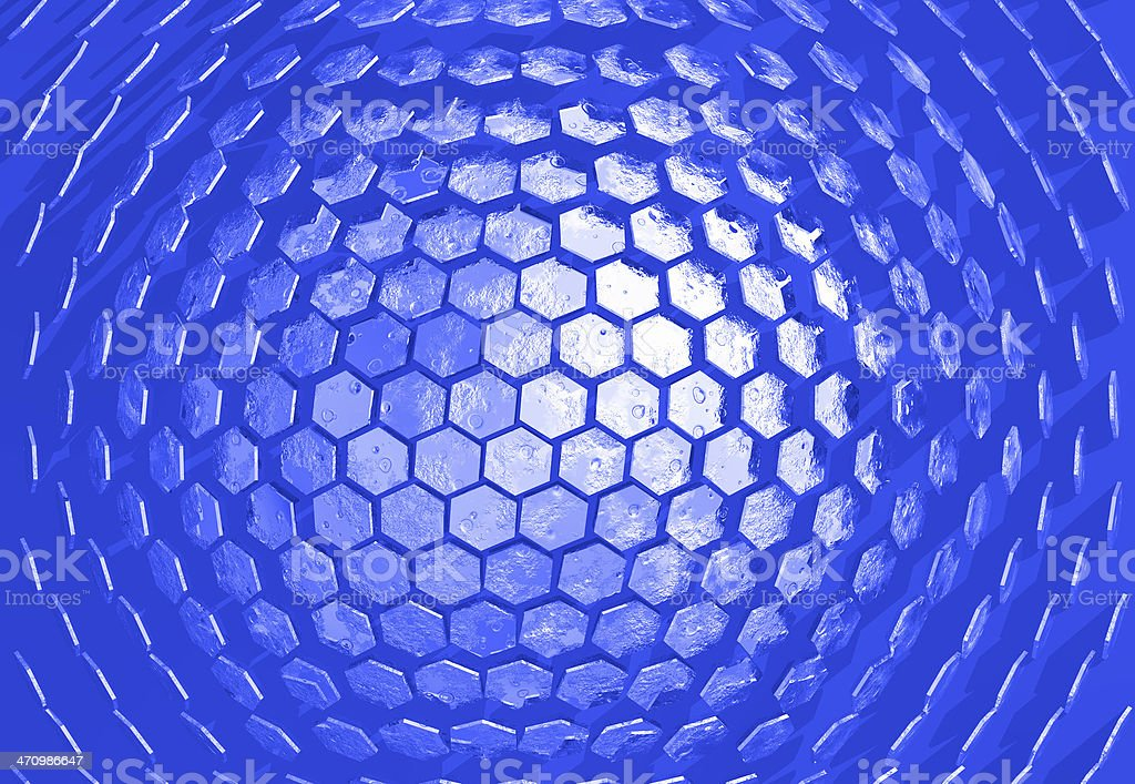 Hexadome blue royalty-free stock photo