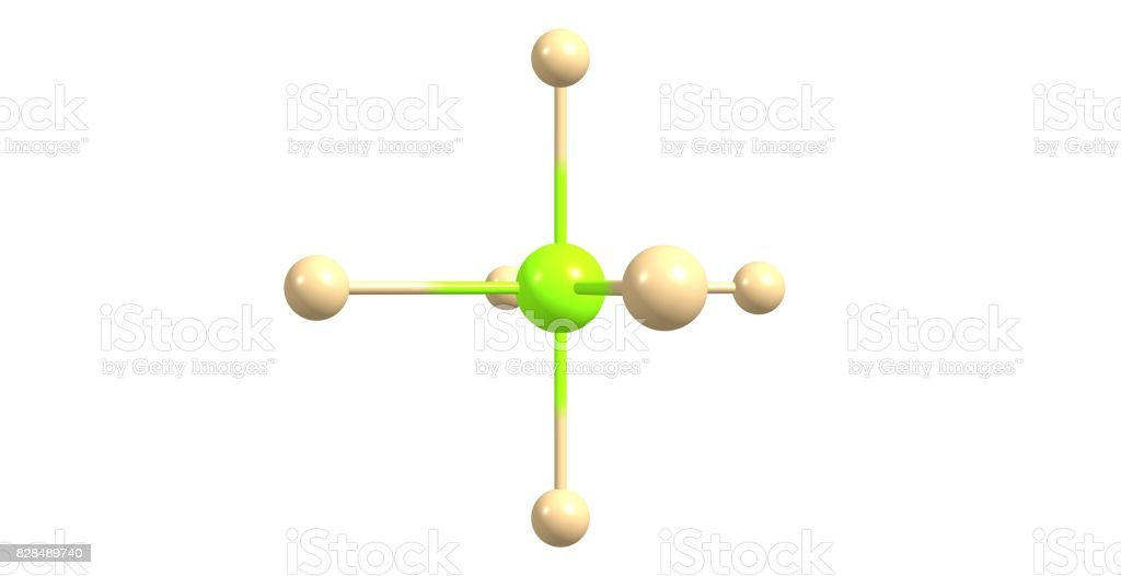 Hexafluorophosphate molecular structure isolated on white stock photo