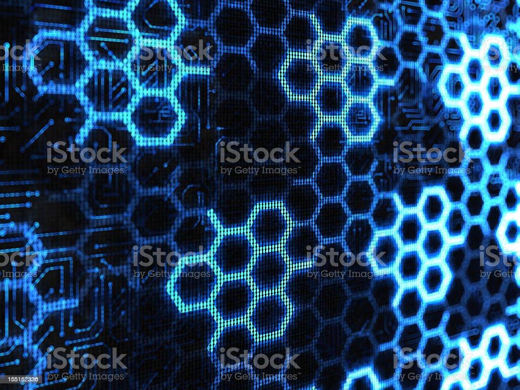 hexagon abstract royalty-free stock photo