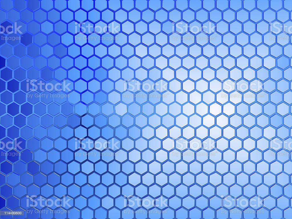 Hexagon Background royalty-free stock photo