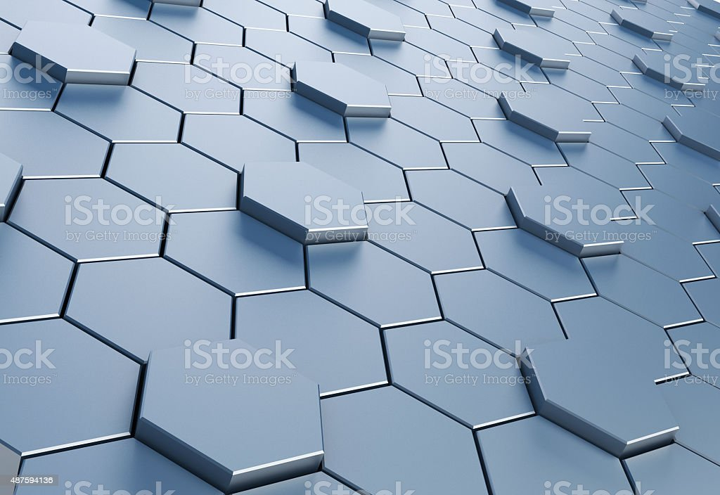 Hexagon background stock photo