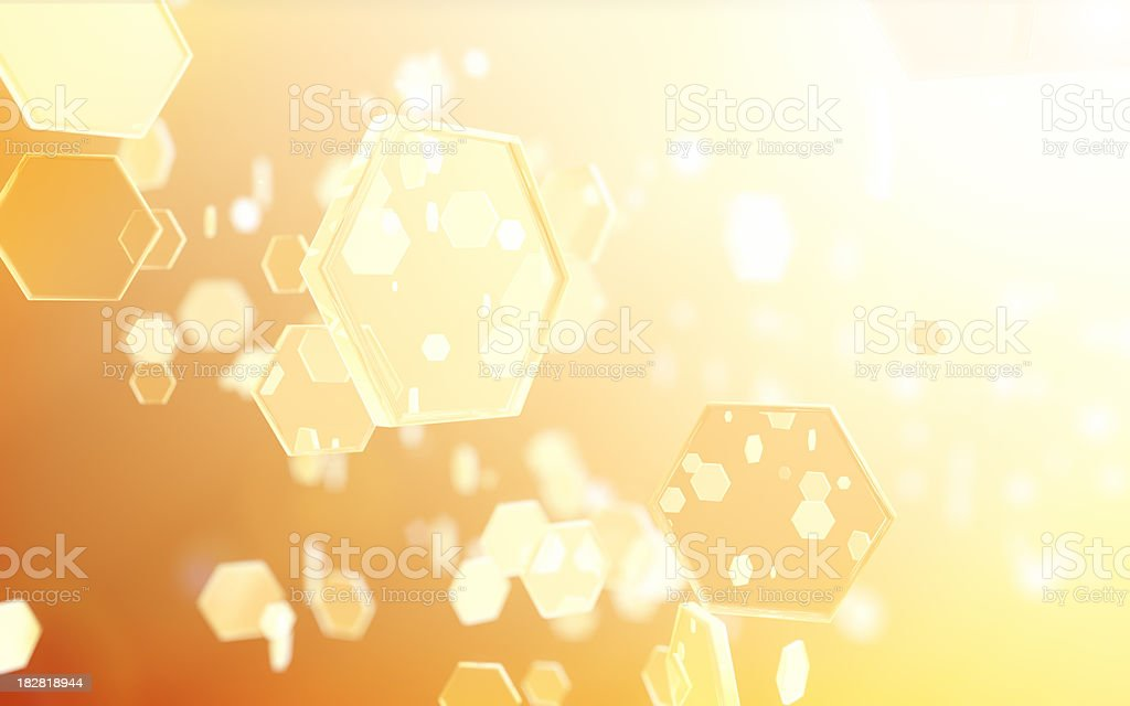 Hexagon Hive Community royalty-free stock photo