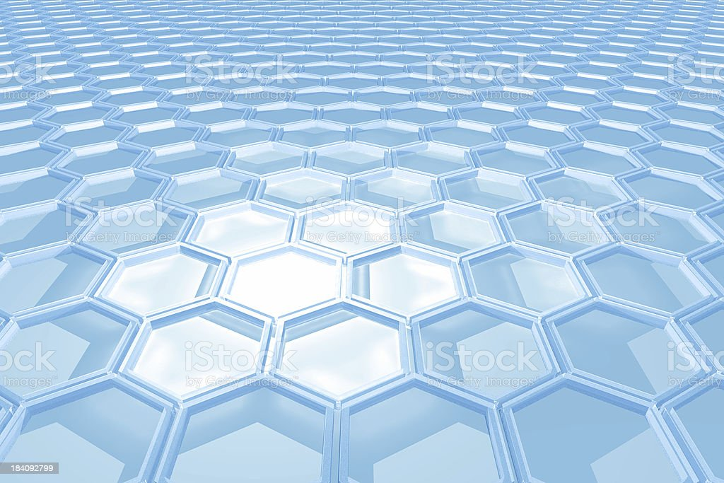 Hexagon light royalty-free stock photo