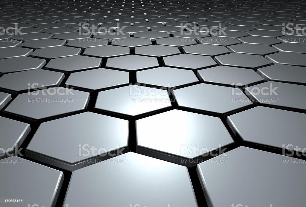 Hexagon pattern royalty-free stock photo