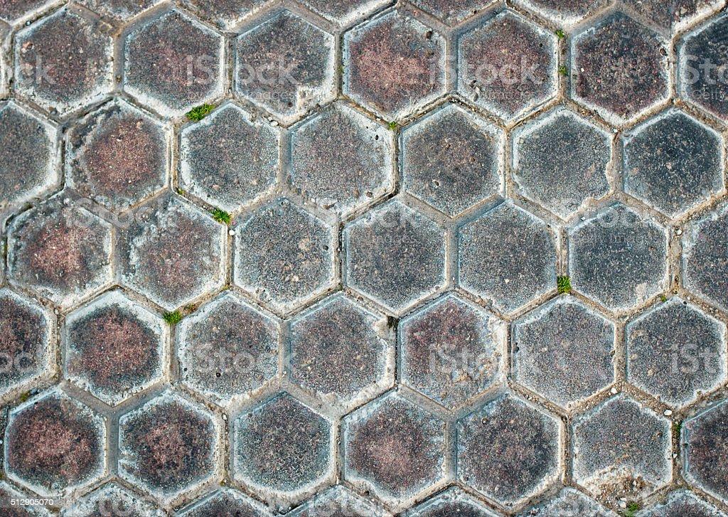 Hexagon Sidewalk Texture stock photo