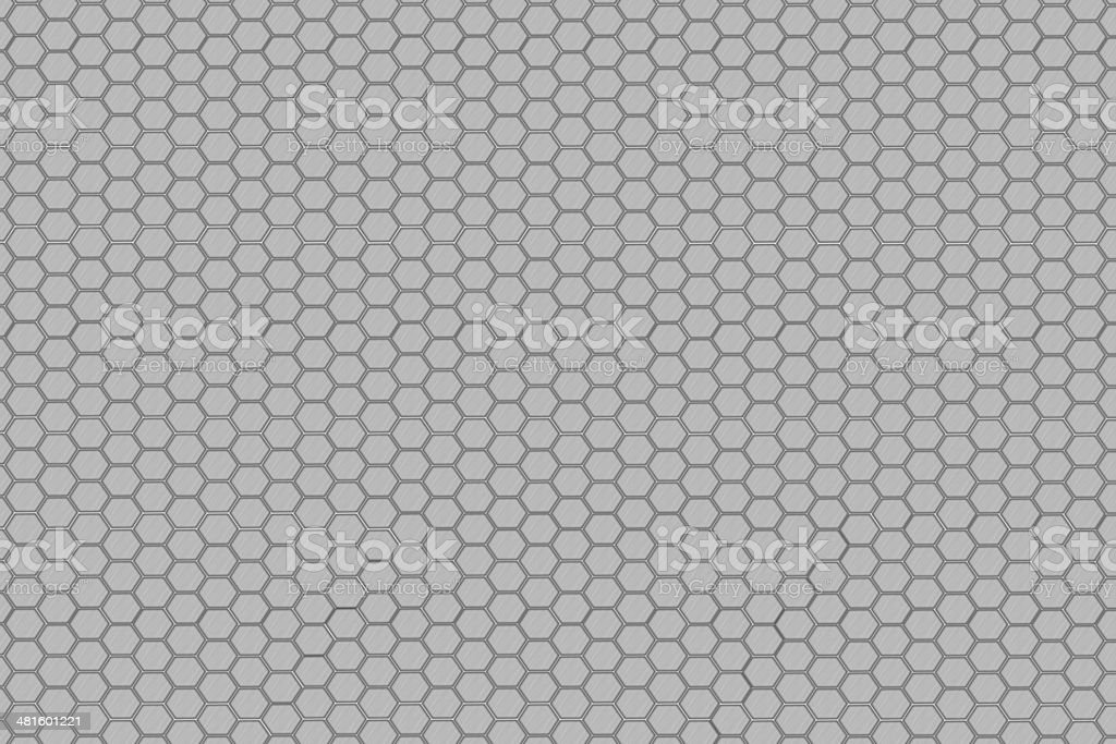 Hexagon steel net stock photo