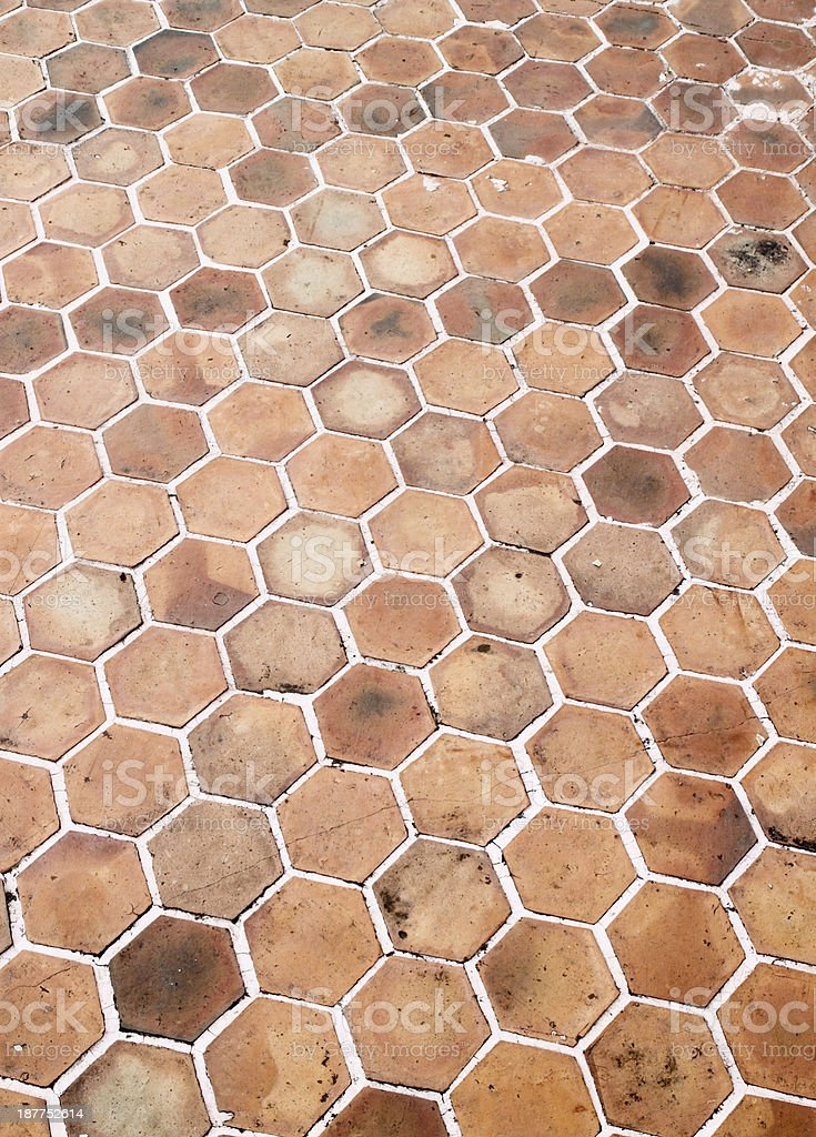 hexagon walkway background royalty-free stock photo