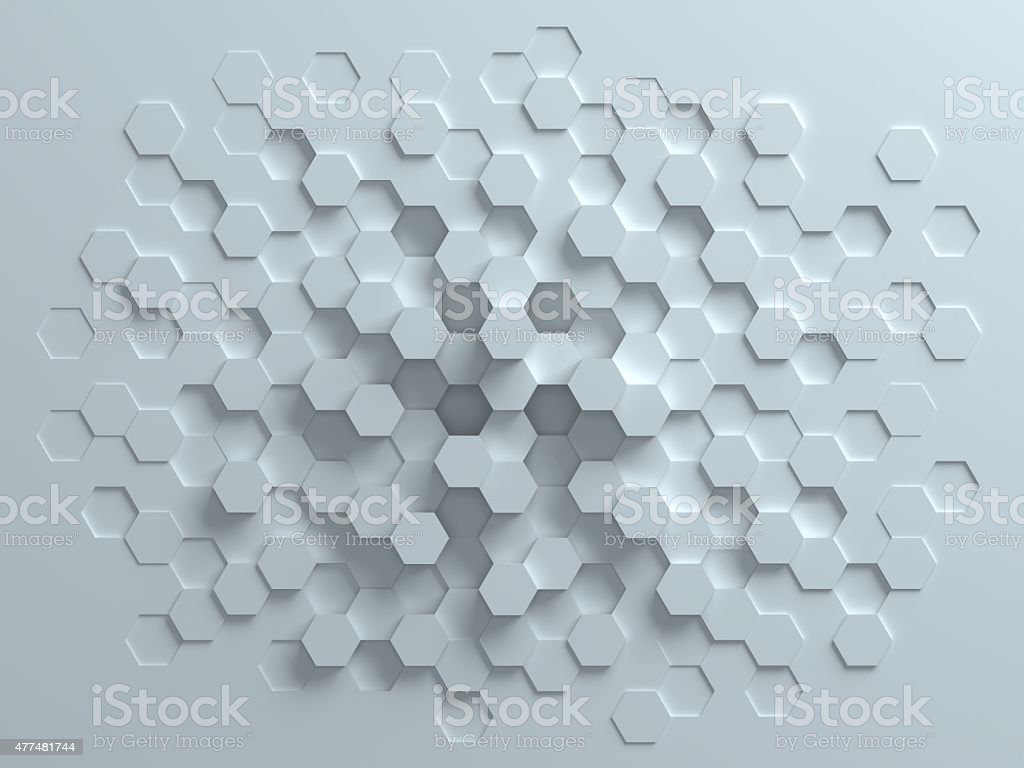 hexagonal abstract 3d background stock photo