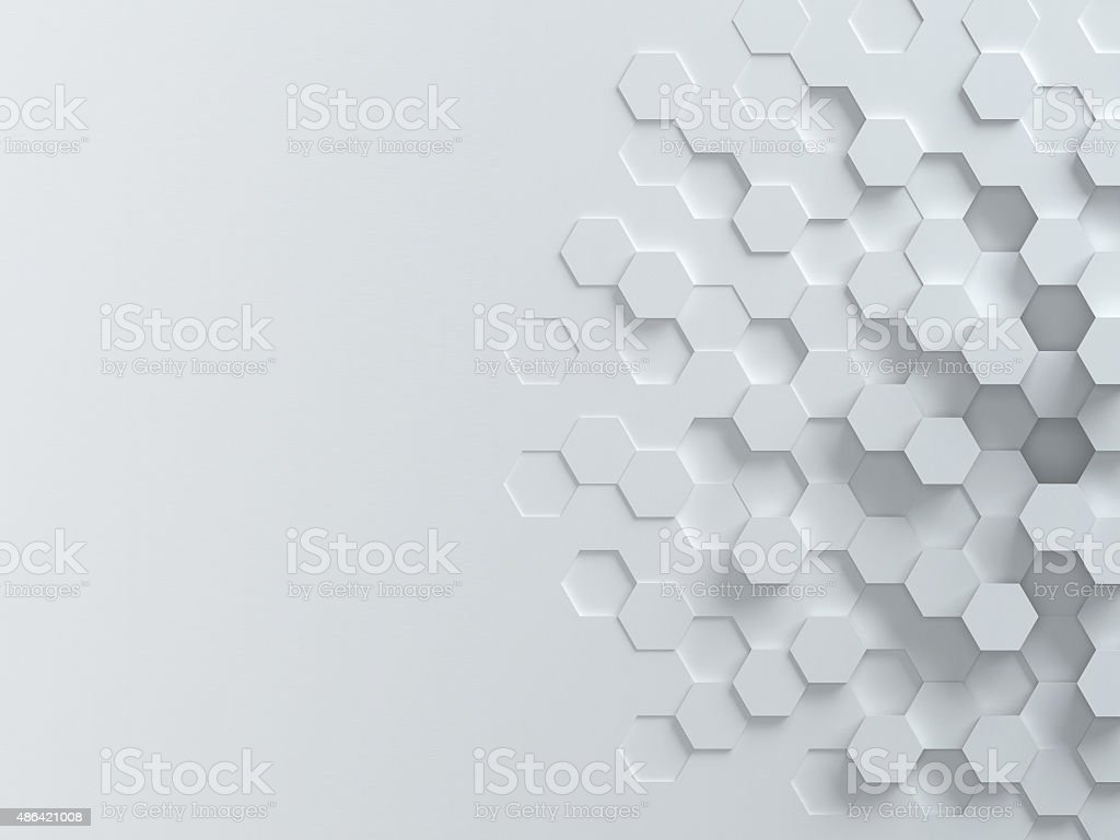 hexagonal abstract 3d background vector art illustration