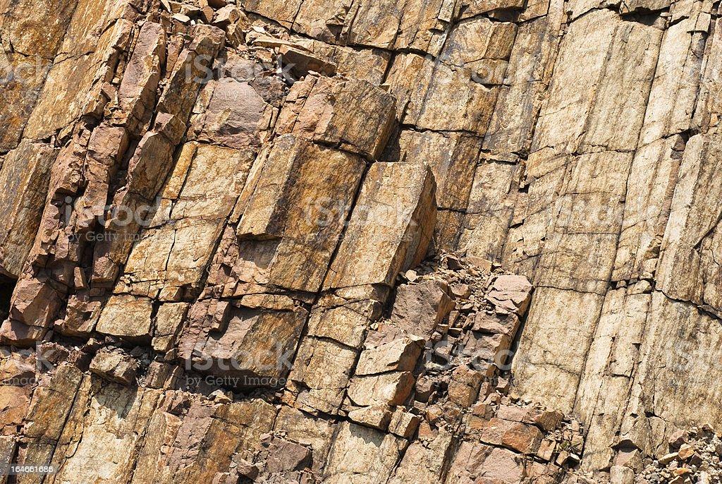 Hexagonal columnar royalty-free stock photo