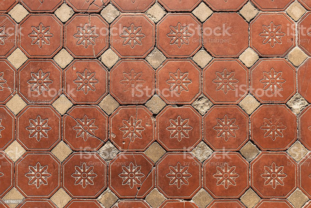 Hexagonal Floor Tiles stock photo