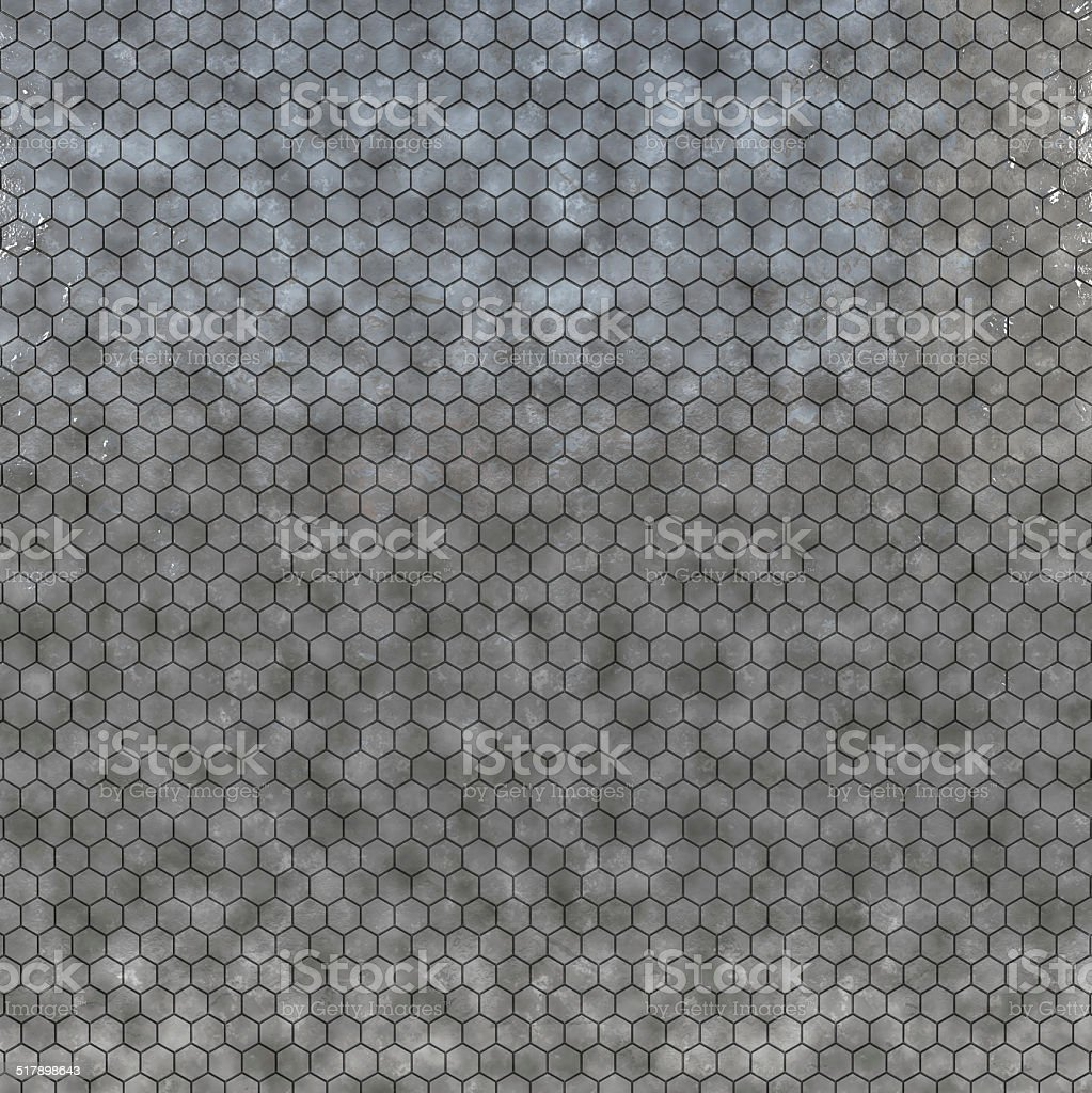 Hexagonal metal texture stock photo