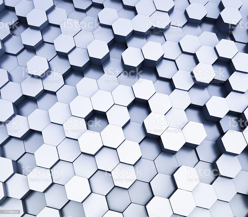 Hexagonal pattern royalty-free stock photo