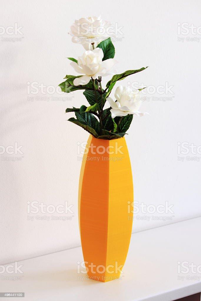 Hexagonal vase stock photo