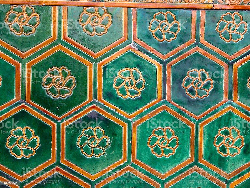Hexagonal Yin Yang Tiles royalty-free stock photo
