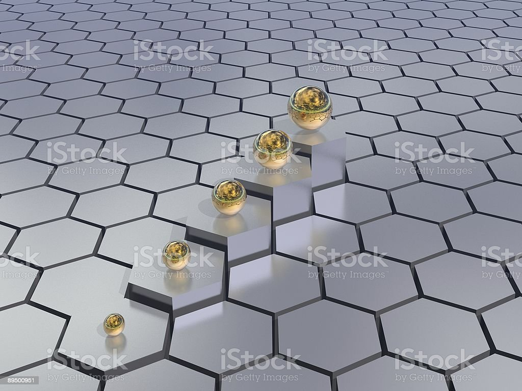 hexagons background royalty-free stock photo