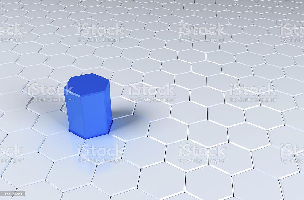 Hexagons royalty-free stock photo
