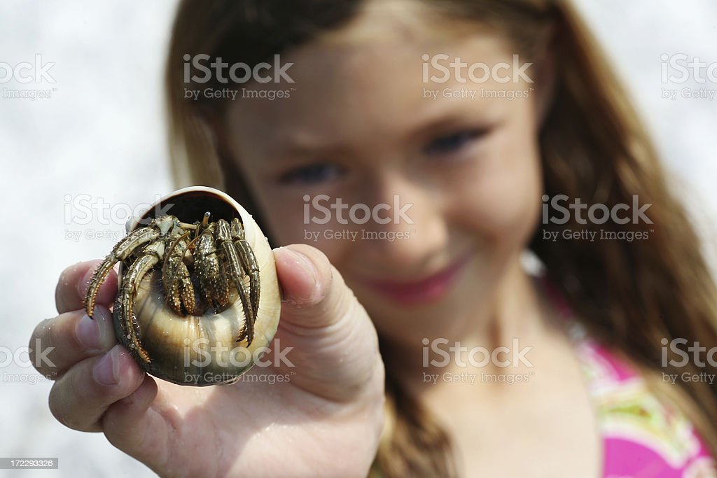Hey Dad ... Look what I found? stock photo