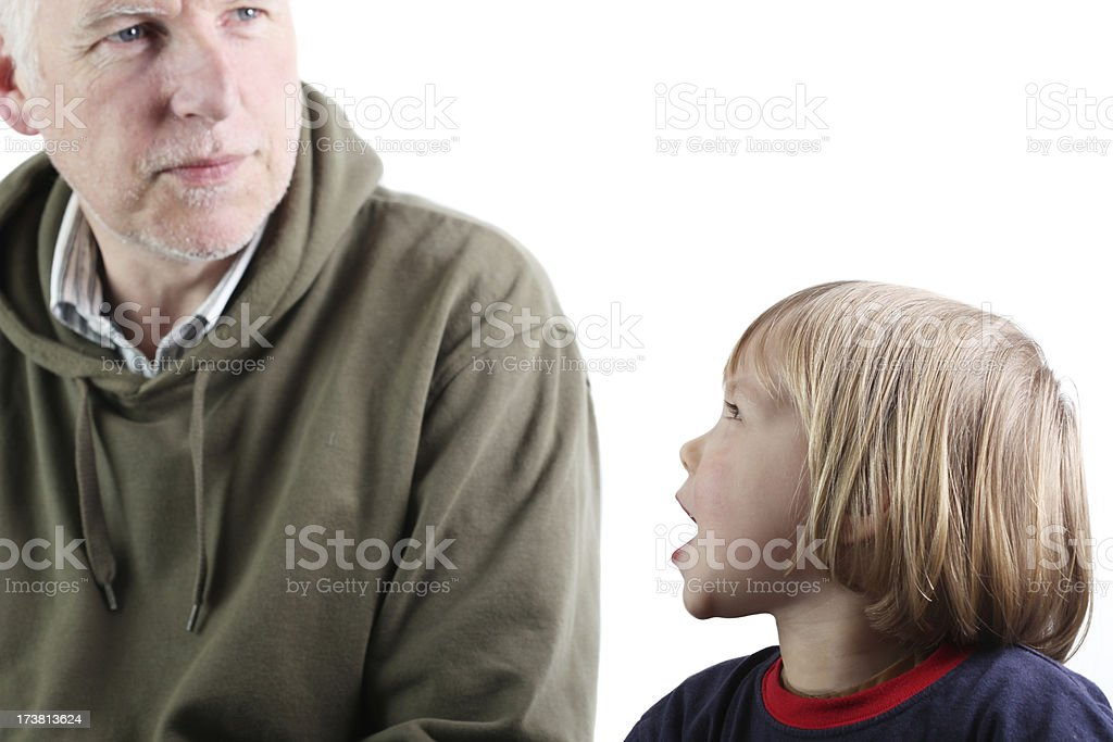 hey, dad royalty-free stock photo