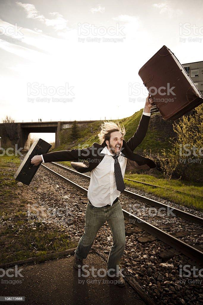 Hey! It was my train... royalty-free stock photo
