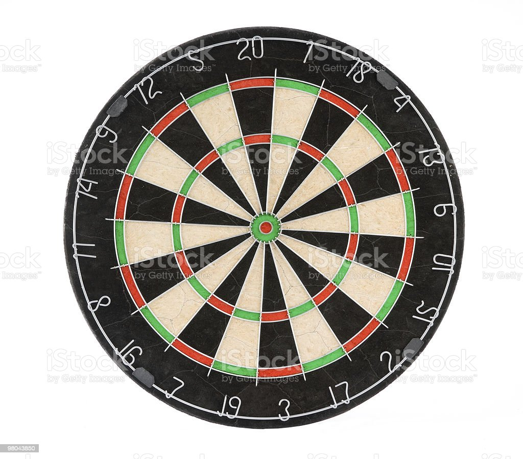 Hey picture of a green black and red dartboard stock photo
