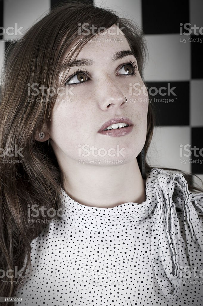 'Hey, what's up there?' stock photo