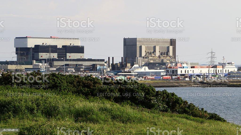 Heysham Nuclear Power Station stock photo