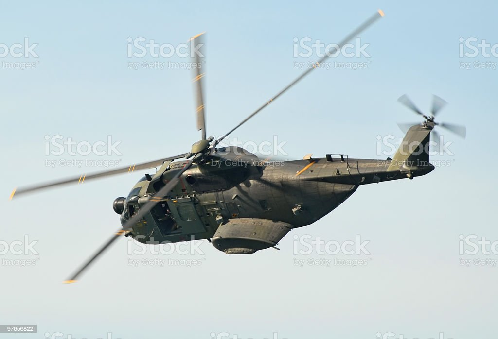 Hh-3F in mid flight. Italian Air Force stock photo