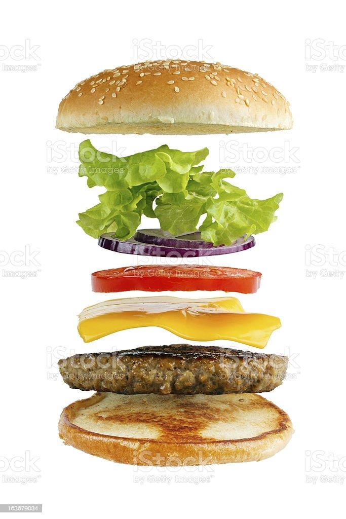 Hhamburger ingredients royalty-free stock photo