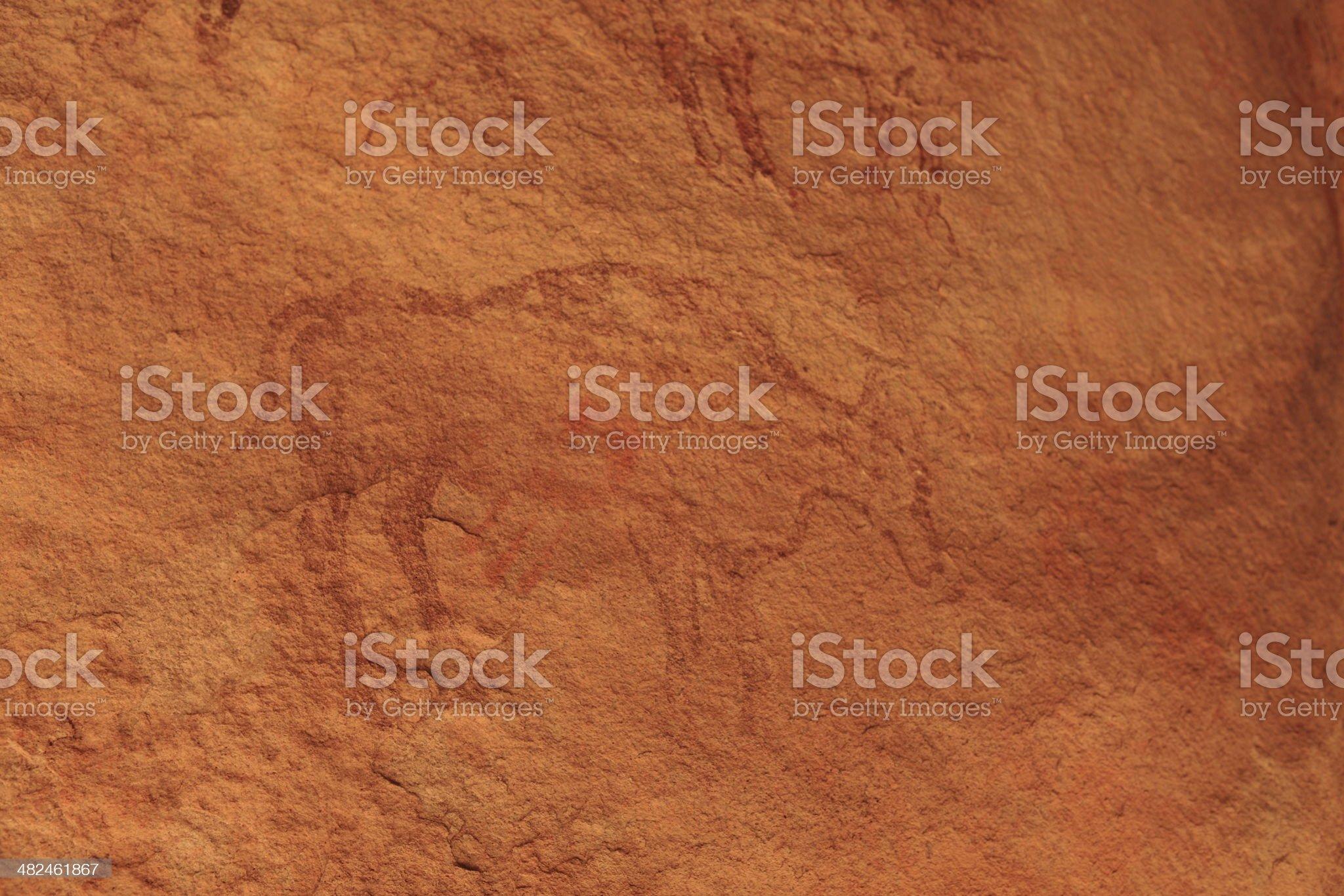 H?hlenmalerei in der algerischen Sahara royalty-free stock photo