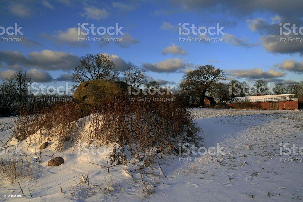 Hühnengrab stock photo