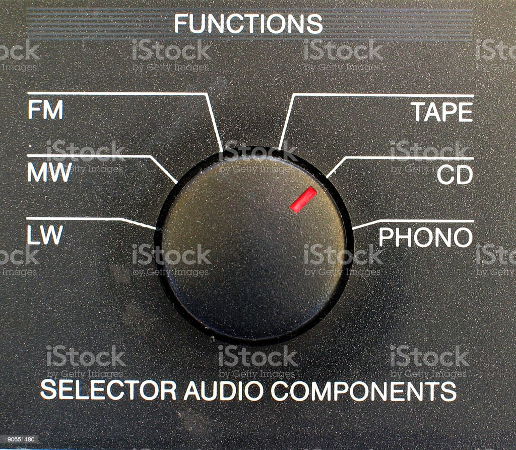 hi fi system audio source selector royalty-free stock photo