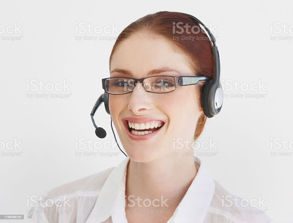 'Hi, how can I help you?' royalty-free stock photo