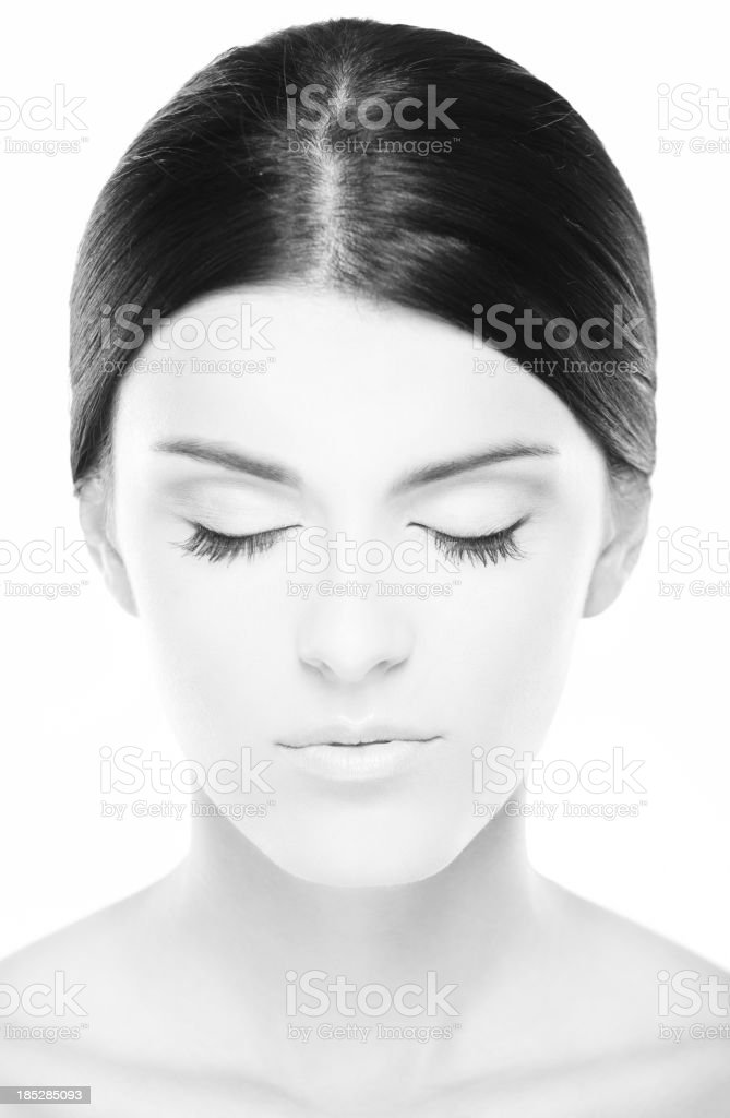 Hi key portrait of female beauty royalty-free stock photo