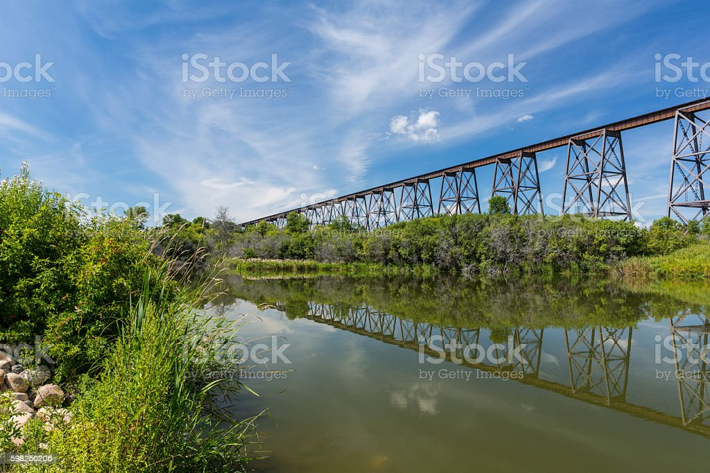 Hi Line Railroad Bridge stock photo