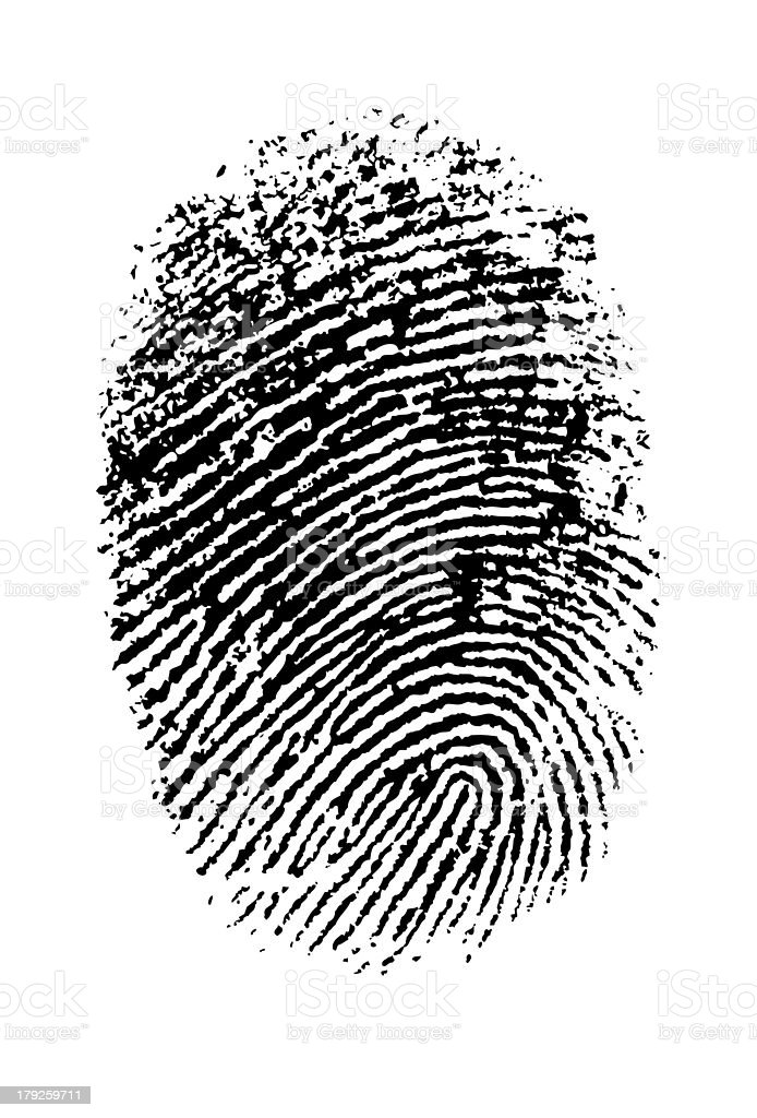 Hi Res Thumbprint stock photo