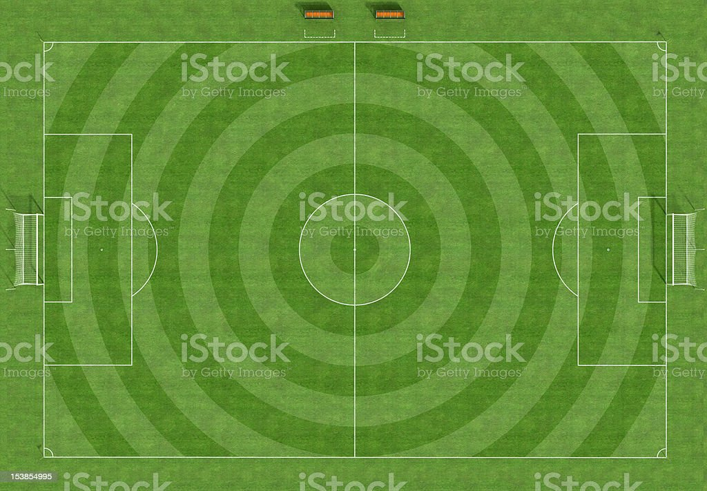 hi resolution of a soccer field royalty-free stock photo