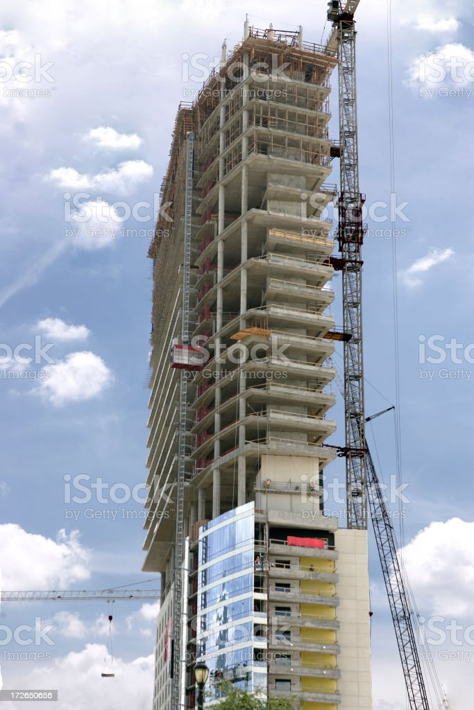 Hi Rise Condo Construction stock photo