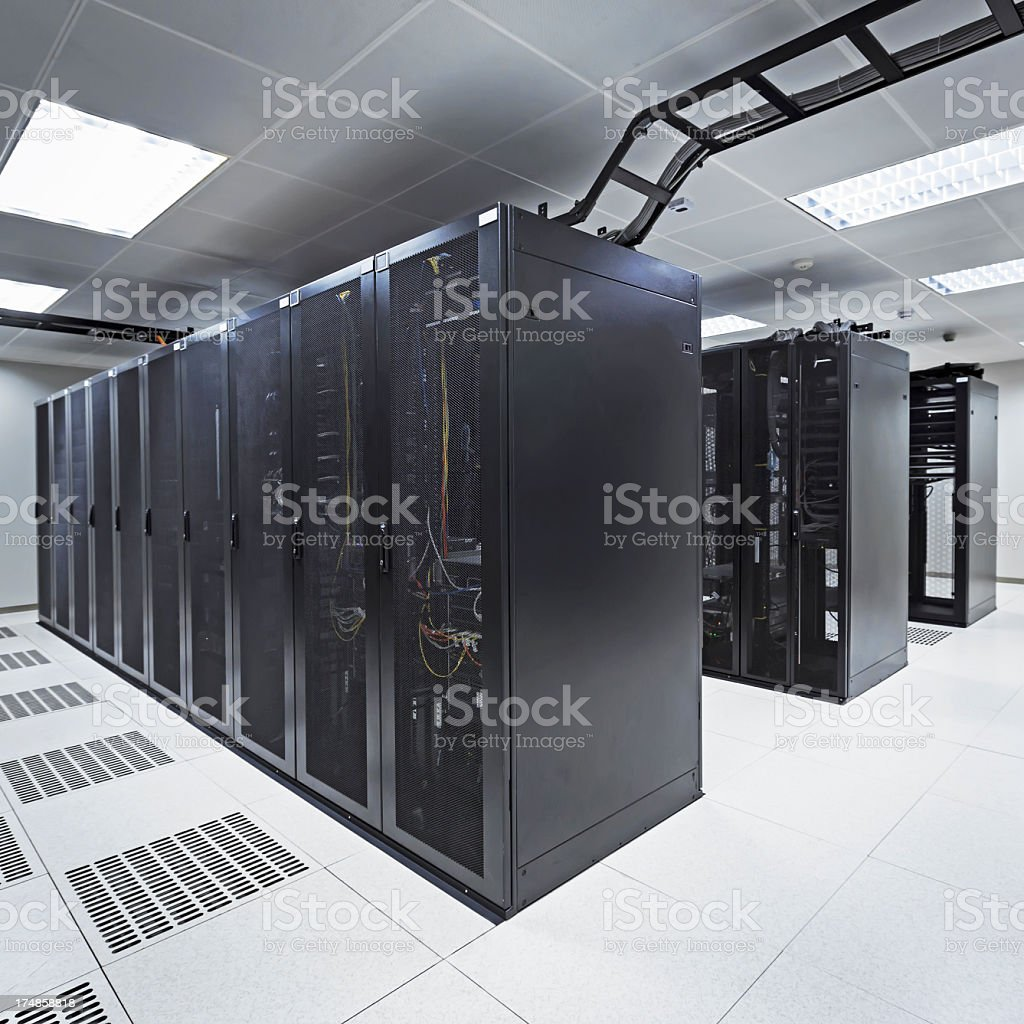 A hi tech data center in a office building royalty-free stock photo