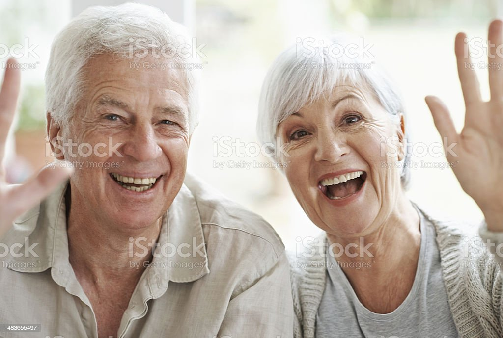 Hi there! stock photo