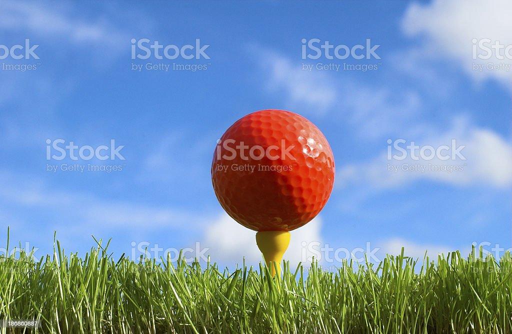 Hi vis golf ball royalty-free stock photo
